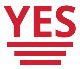 Image of a yes text