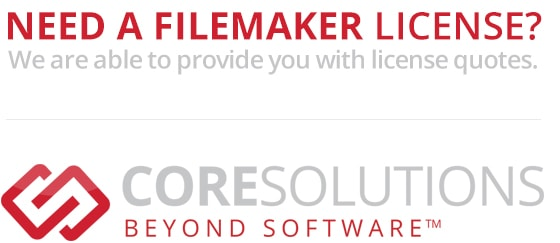 FileMaker Licensing with CoreSolutions